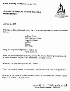 View Home Boarding License